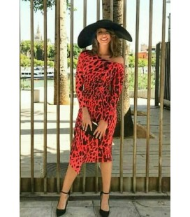 VESTIDO ANIMAL PRINT EVENTO